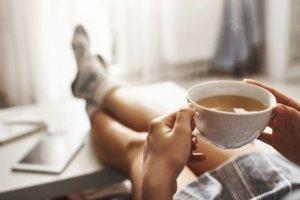 Drinking CBD Tea
